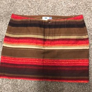 Old navy skirt - fall colors